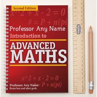 Personalised Notebook - Advanced Maths - Maths Gifts