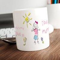 Personalised Mug - I Love You Mummy Pink Scribble - Cutlery Gifts