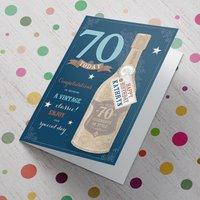Personalised Card - 70 Today - A Vintage Classic - 70th Birthday Gifts