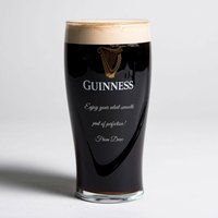Personalised Guinness Pint Glass - Guinness Gifts