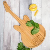 Personalised Guitar Chopping Board - Rocks - Guitar Gifts