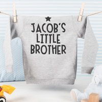 Personalised Baby's Hoodie - Little Brother - Brother Gifts