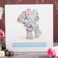 Personalised Me To You Belgian Chocolates – Tatty Teddy Blue Heart - Tatty Teddy Gifts