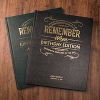 Personalised Newspaper Book - Birthday Edition - Newspaper Gifts
