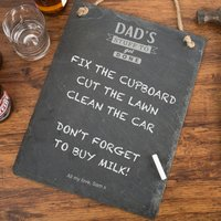 Personalised Hanging Slate Chalkboard - Dad's Stuff To Get Done - Stuff Gifts