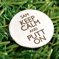 Engraved Stainless Steel Golf Ball Marker - Golf Gifts