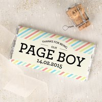 Personalised Chocolate Bar - Pageboy