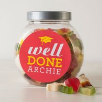 Personalised Haribo Sweet Jar - Well Done - Haribo Gifts