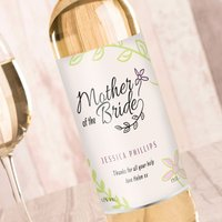 Personalised Wine - Wedding Floral Mother Of The Bride