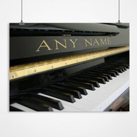 Personalised Grand Piano Print - Music Gifts
