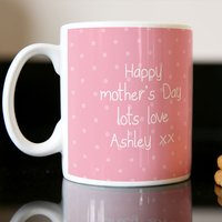 Photo Upload Mug - Polka Dot Pink - Polka Dot Gifts