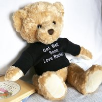 Personalised Get Well Soon Thomas Bear - Thomas Gifts