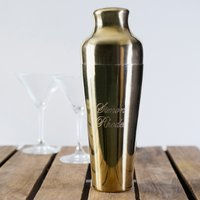 Personalised Belmont Gold-Plated Cocktail Shaker - Cocktail Gifts