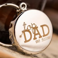 Personalised Bottle Top Keyring With Bottle Opener - Top Dad - Bottle Opener Gifts