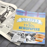 Newspaper Recipe Decade Book - 1930s - Newspaper Gifts