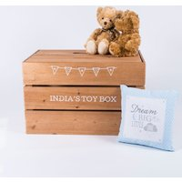 Personalised Luxury Toy Crate - Choose From 10 Colours - Colours Gifts