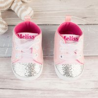 Personalised Baby Shoes - Sequin Bear