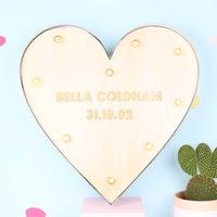 Personalised Lisa Angel Industrial Metal LED Heart Light - Angel Gifts