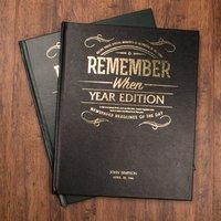 Personalised Newspaper Year Book - Newspaper Gifts