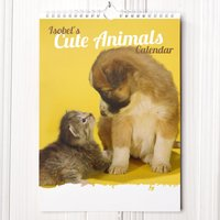 Personalised Cute Animals Calendar - Animals Gifts