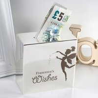 Personalised Silver Money Box - Fairy Wishes - Fairy Gifts