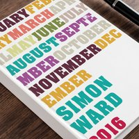 Personalised Diary - Colour Months - Colour Gifts