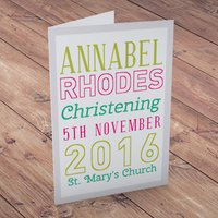 Personalised Card - Christening Sign
