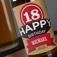 Personalised Beer - 18th Birthday - 18th Birthday Gifts