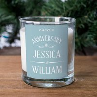 Personalised Scented Candle - Anniversary - Candle Gifts