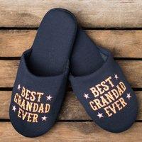 Best Grandad Ever Slippers - Grandad Gifts