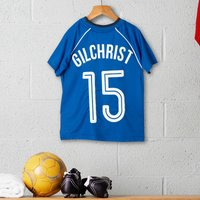 Personalised Children's Official Rangers Football Top - Football Gifts