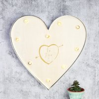 Personalised Lisa Angel 'Be Mine' Industrial Metal LED Heart Light - Angel Gifts