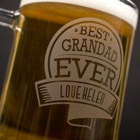 Personalised Pint Tankard - Best Grandad Ever - Grandad Gifts