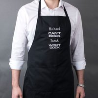 Personalised Apron - Can't Cook, Won't Cook - Cook Gifts