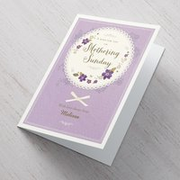 Personalised Mother's Day Card - Mothering Sunday Wish - Wish Gifts