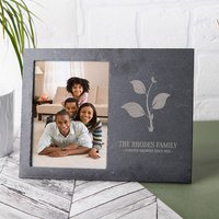 Engraved Slate Chalkboard Photo Frame - Forever Growing - Growing Gifts