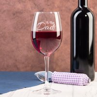 Personalised Wine Glass - Best Dad - Wine Glass Gifts