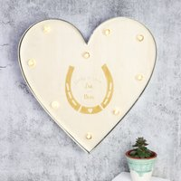 Personalised Lisa Angel 'Lucky In Love' Industrial Metal LED Heart Light - Angel Gifts