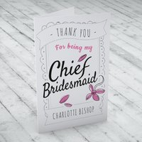 Personalised Thank You Card - Chief Bridesmaid - Bridesmaid Gifts