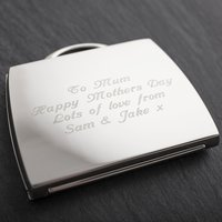 Engraved Handbag Compact Mirror - Handbag Gifts
