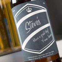 Personalised Beer - Black & Silver Label - Beer Gifts