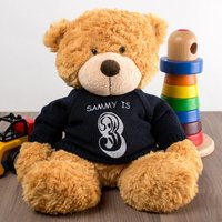 Personalised Bonnie Bear With Navy Jumper