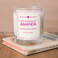 Personalised Scented Candle - Valentine Pink