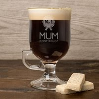 Personalised Irish Coffee Glass With Baileys Miniature - No.1 Mum - Baileys Gifts