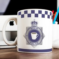 Personalised Mug - Fighting Crime One Brew At A Time - Fighting Gifts