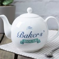 Personalised Bone China Teapot - Our House - Teapot Gifts