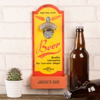 Personalised Wall Plaque Bottle Opener - Any Message - Bottle Opener Gifts