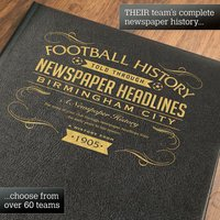 Birmingham City Personalised Football Book - Football Gifts