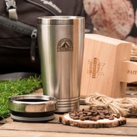 Personalised Travel Vacuum Flask - Happy Camper - Flask Gifts