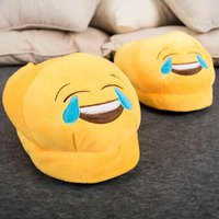 Crying With Laughter Emoji Slippers - Laughter Gifts